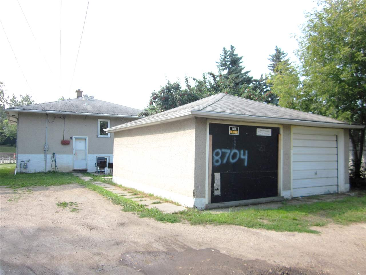 Double detached garage.