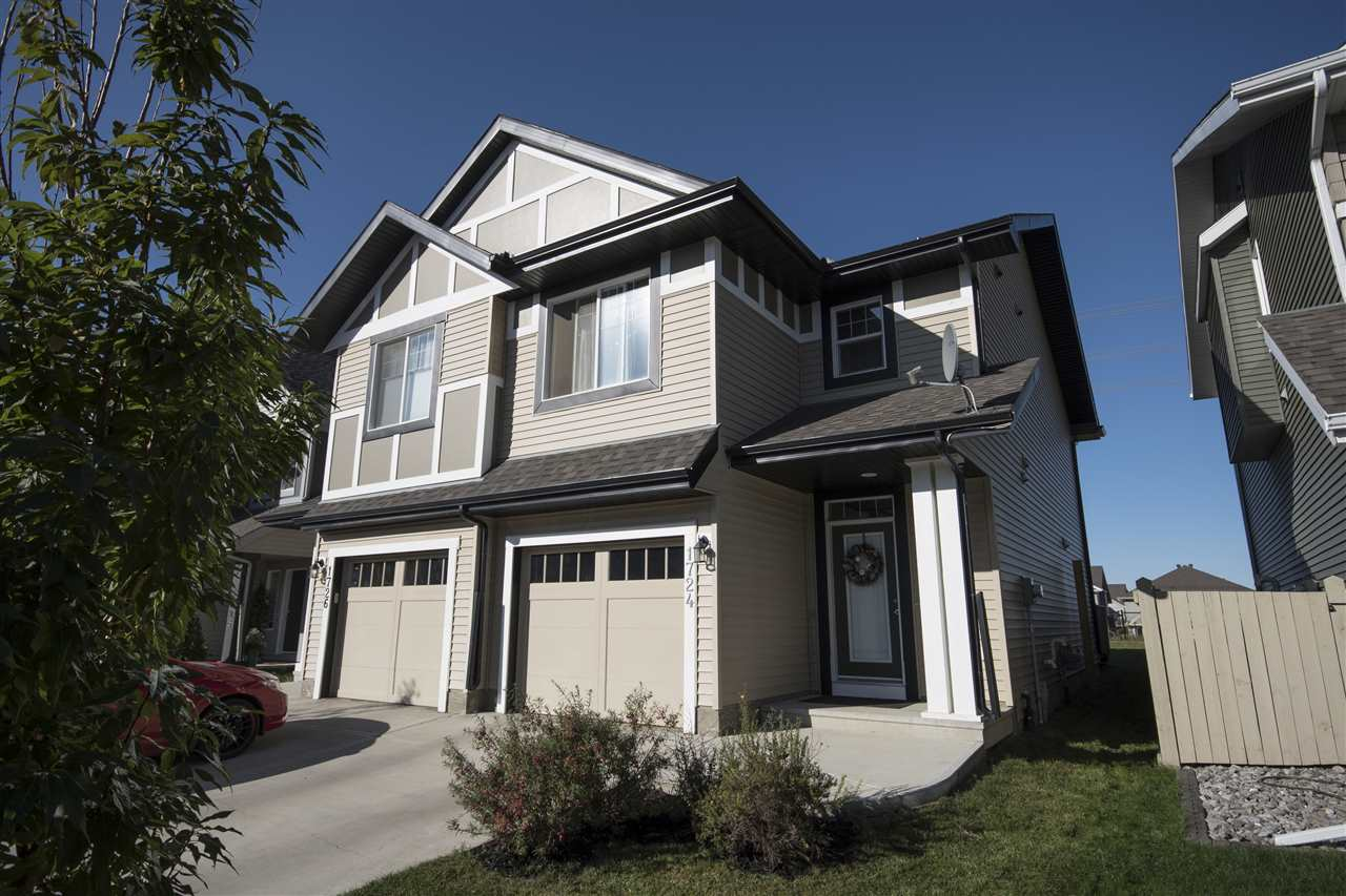 Main Photo: 1724 CHAPMAN Way in Edmonton: Zone 55 House Half Duplex for sale : MLS® # E4084021