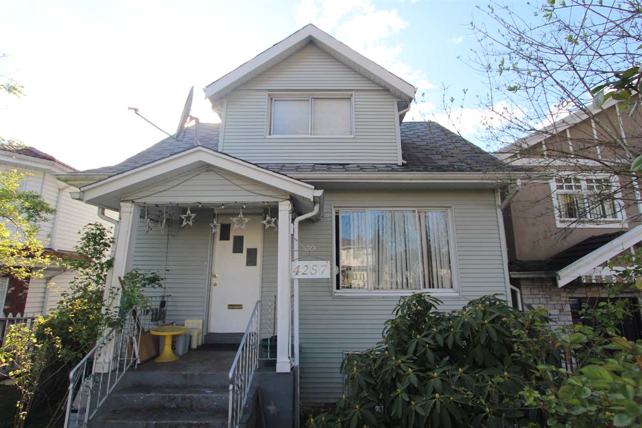 Main Photo: 4257 BEATRICE Street in Vancouver: Victoria VE House for sale (Vancouver East)  : MLS® # R2065530