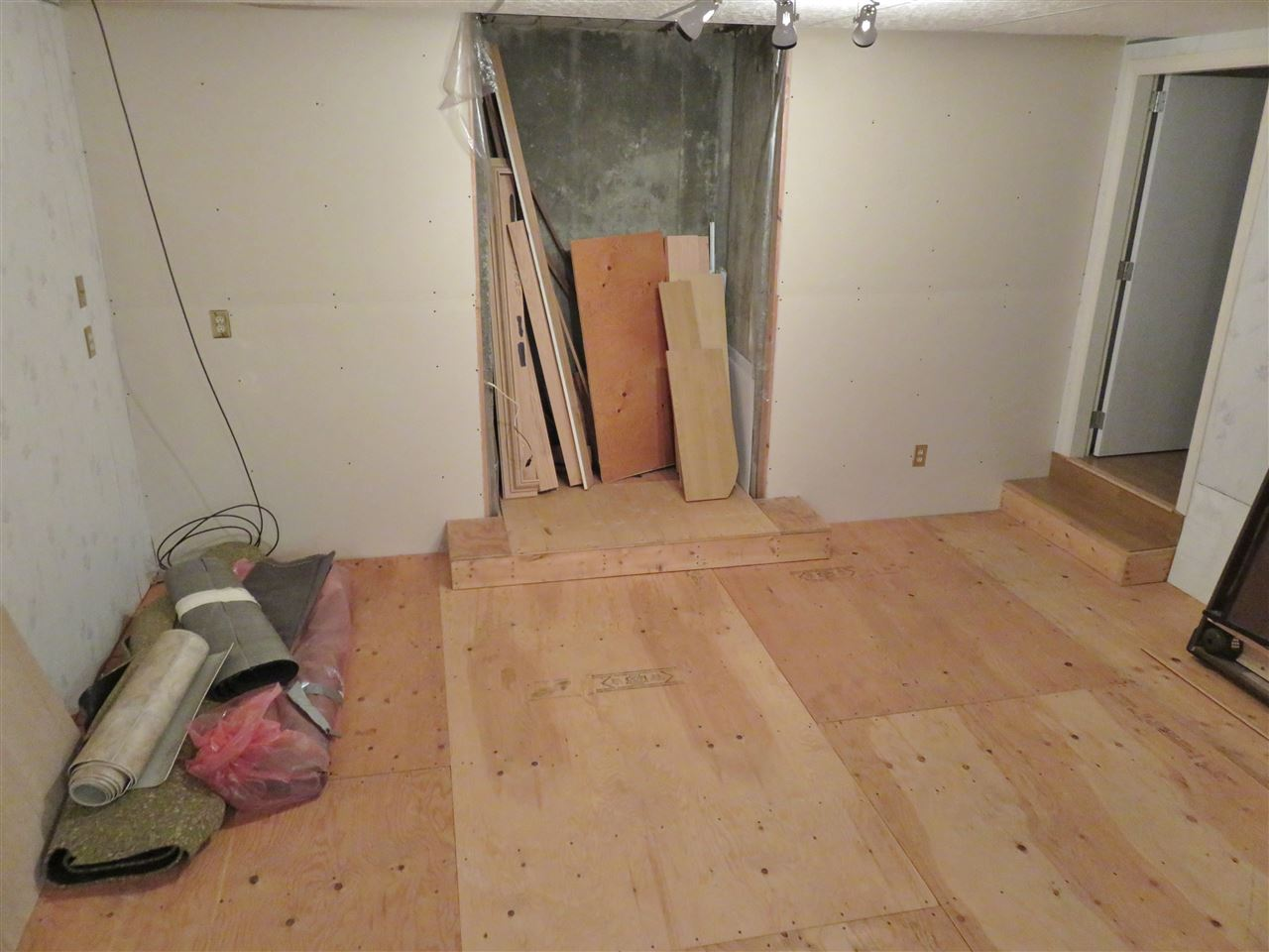 "Here is the ""Sunken"" Rec Room for the Pool Table that will stay! Hummm..."