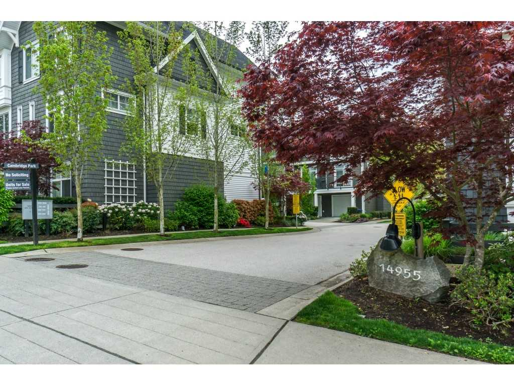 "Main Photo: 12 14955 60 Avenue in Surrey: Sullivan Station Townhouse for sale in ""Cambridge Park"" : MLS®# R2263238"