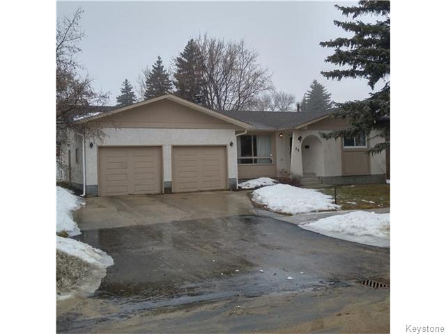 Main Photo: 58 Buckle Drive in WINNIPEG: Charleswood Residential for sale (South Winnipeg)  : MLS® # 1601508