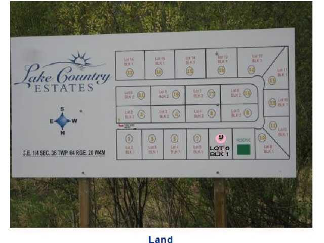 Photo 2: 9 Lake Country Estates: Rural Athabasca County Rural Land/Vacant Lot for sale : MLS(r) # E4069751