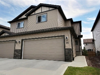 Main Photo: 26 445 Brintnell Boulevard in Edmonton: Zone 03 House Half Duplex for sale : MLS® # E4074588