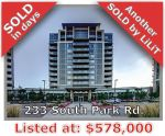 Main Photo: 233 South Park Avenue in Markham: Commerce Valley Condo for sale