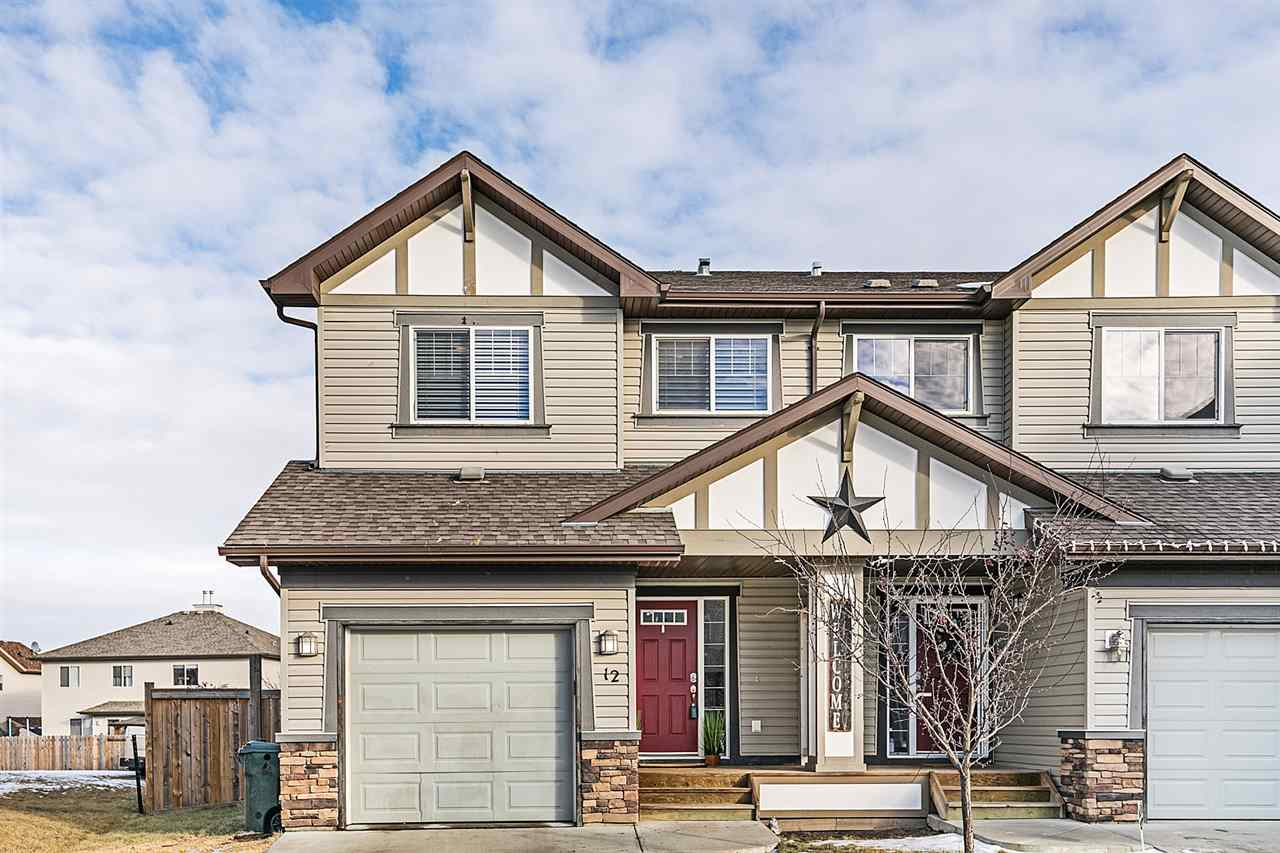 Main Photo: 12 Hartwick Mews: Spruce Grove House Half Duplex for sale : MLS® # E4093562