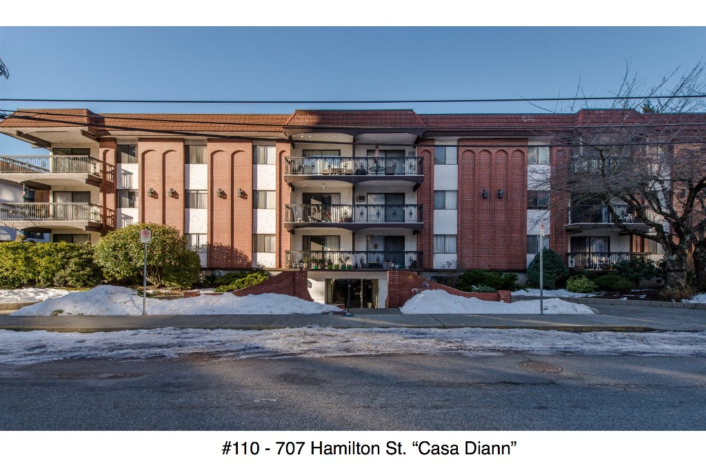 "Main Photo: 110 707 HAMILTON Street in New Westminster: Uptown NW Condo for sale in ""Casa Diann"" : MLS® # R2130307"