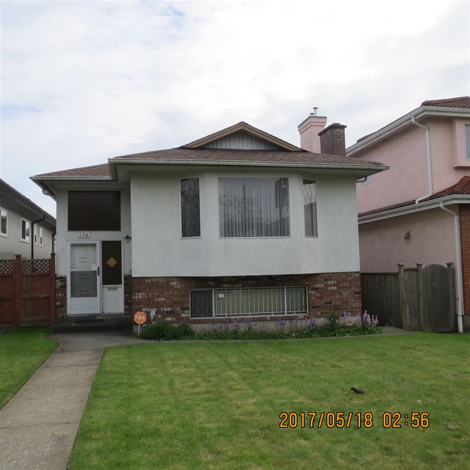 Main Photo: 136 E 49TH Avenue in Vancouver: South Vancouver House for sale (Vancouver East)  : MLS(r) # R2168147