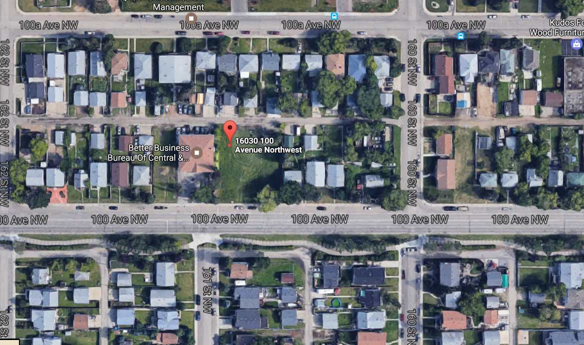 Main Photo: 16030 100 Avenue in Edmonton: Zone 22 Vacant Lot for sale : MLS(r) # E4068955