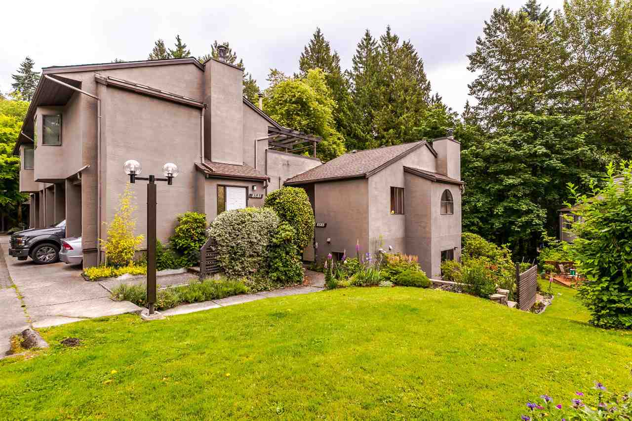 "Main Photo: 8575 WOODRIDGE Place in Burnaby: Forest Hills BN Townhouse for sale in ""Simon Fraser Village"" (Burnaby North)  : MLS(r) # R2180687"