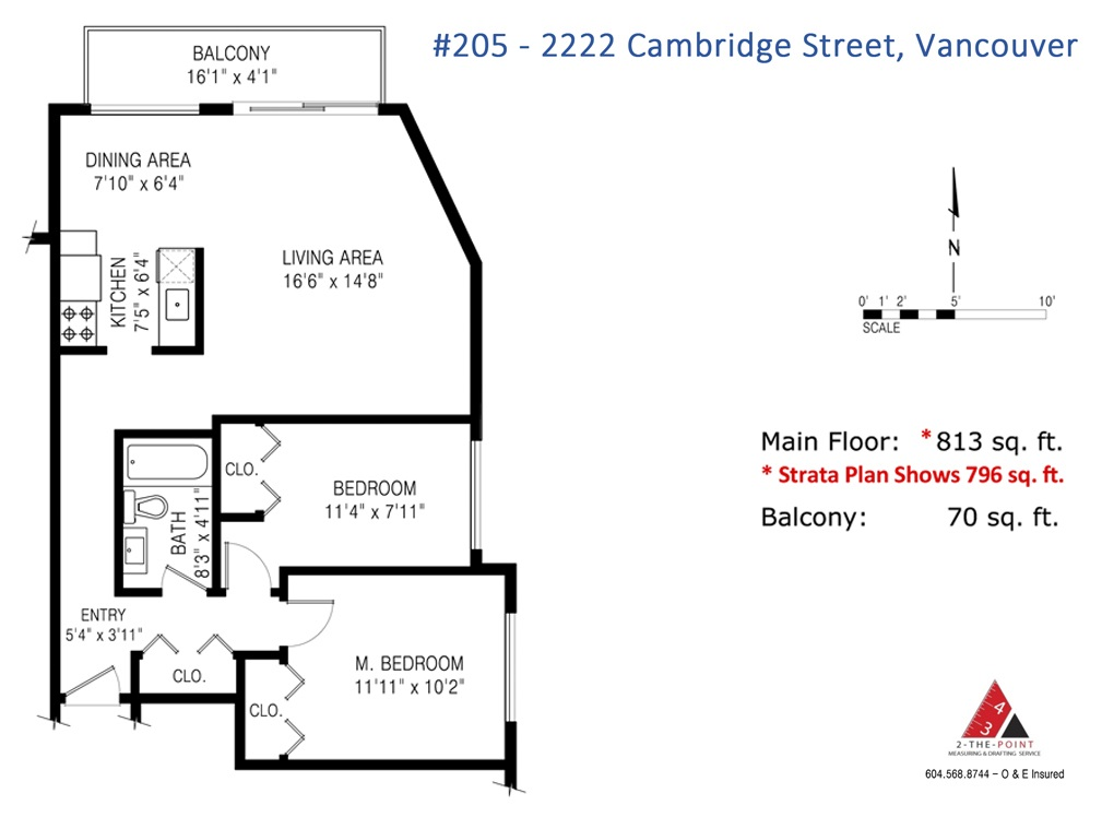 "Photo 12: 205 2222 CAMBRIDGE Street in Vancouver: Hastings Condo for sale in ""The Cambridge"" (Vancouver East)  : MLS(r) # R2046134"