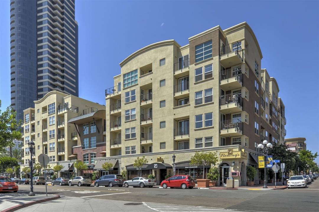Crown Bay!  Located in one of the nicest areas in Downtown San Diego.  Close to everything and located in a quiet pocket of downtown between 3rd and 4th (3rd is not a thru street to Harbor Drive)