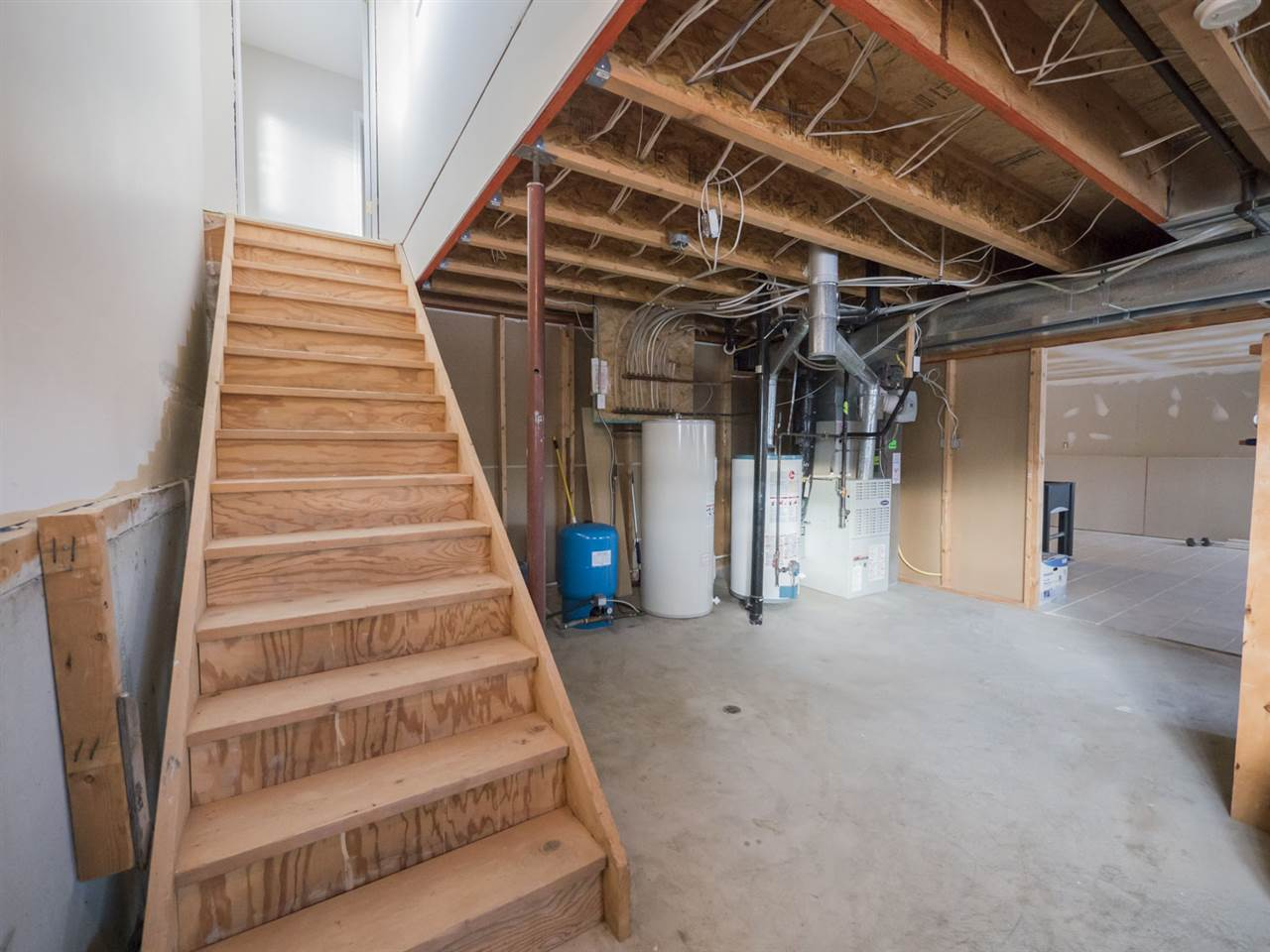 Staircase leading to the basement.