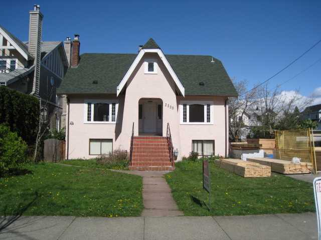 "Main Photo: 2555 W 8TH Avenue in Vancouver: Kitsilano House for sale in ""KITSILANO"" (Vancouver West)  : MLS(r) # V881130"