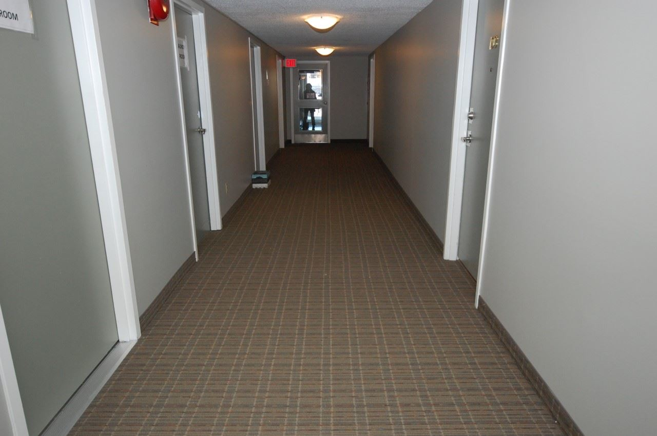 This is how tidy and fresh this building looks with new carpet and paint.