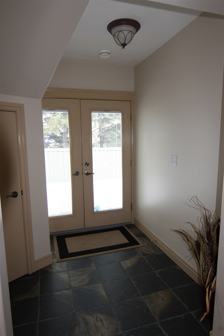 Walk-out entrance from basement