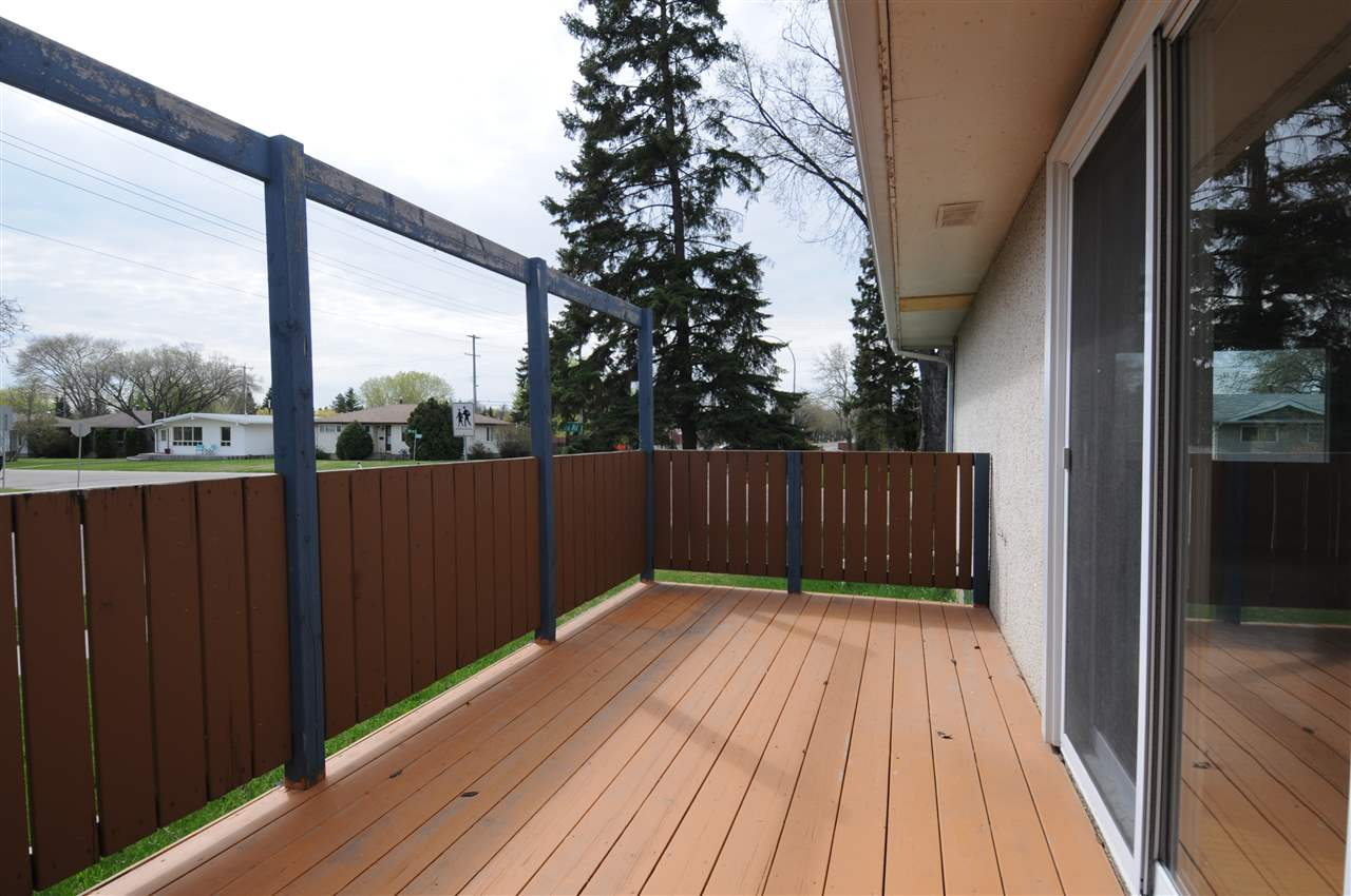 Deck accessible from dining room