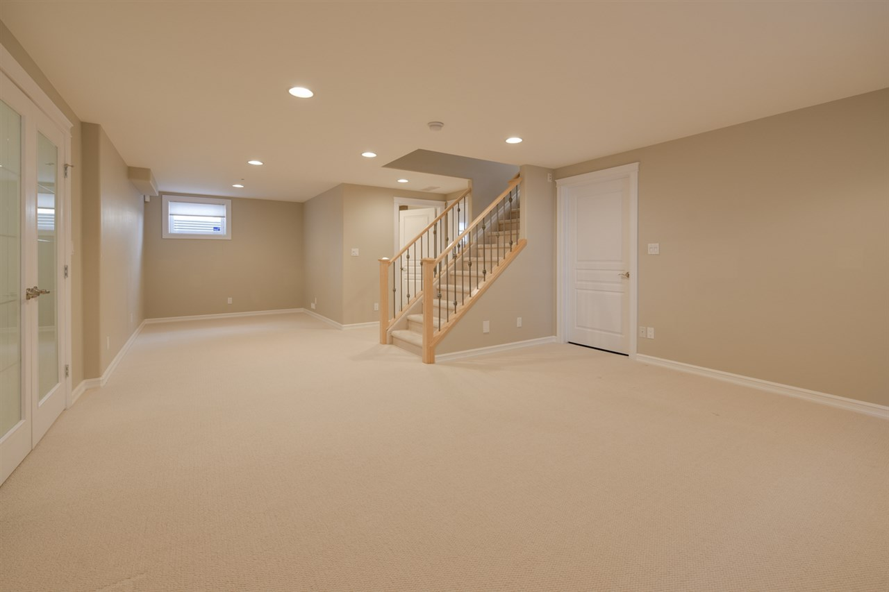 Prof Finished Basement features Large Family Room, 4th BR, 3 PC Bath, Games Closet and Laundry Room with Utility Sink.