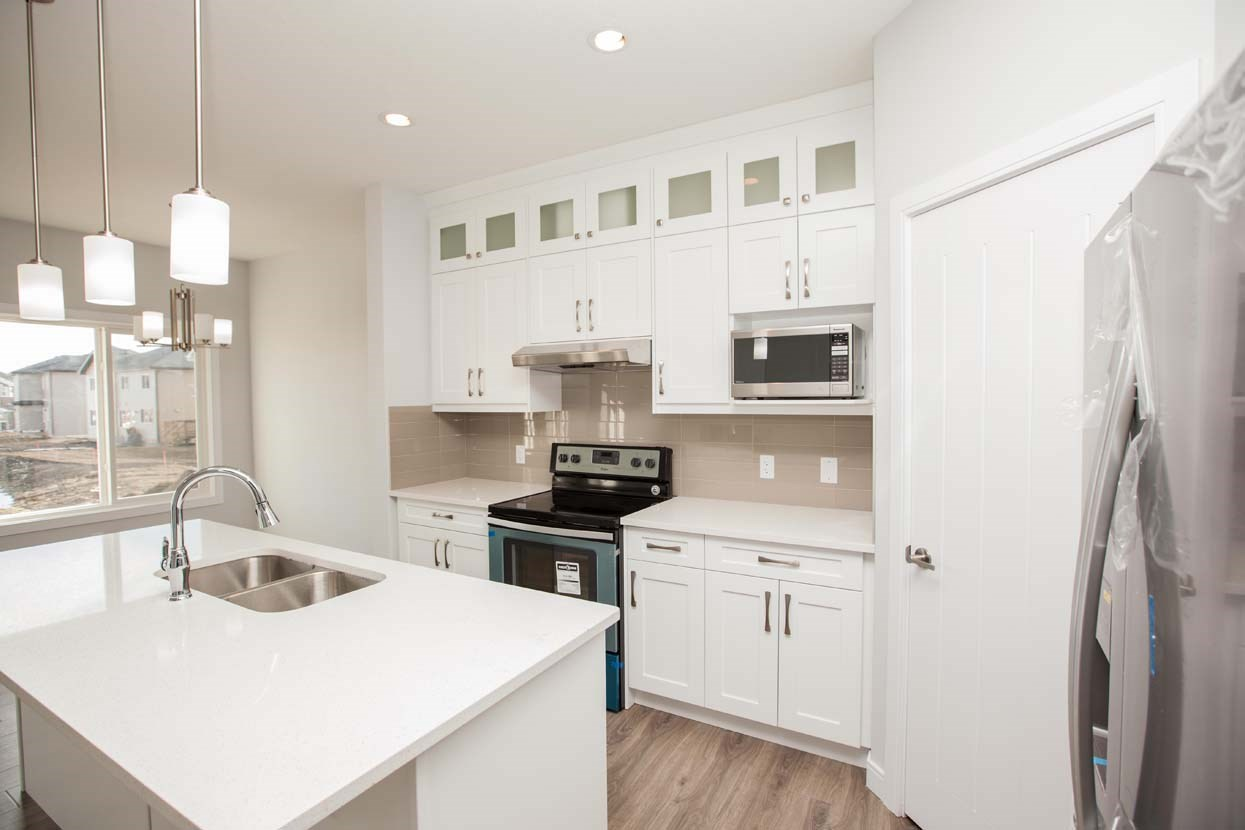 Main Photo: 8568 CUSHING Place in Edmonton: Zone 55 House Half Duplex for sale : MLS(r) # E4059352