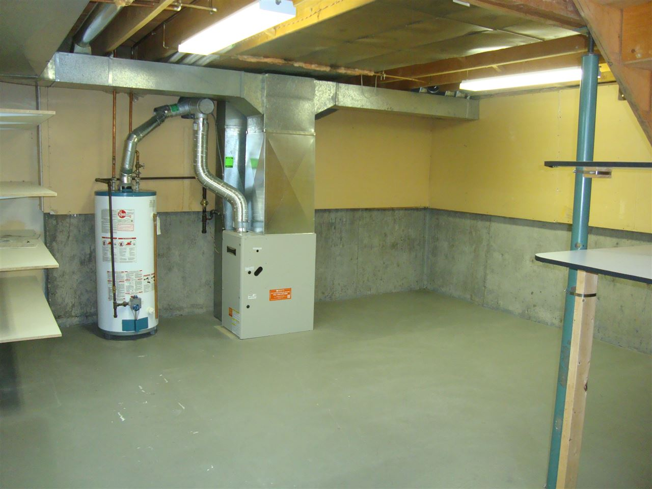 Large, clean and neat basement is ready for your development ideas.