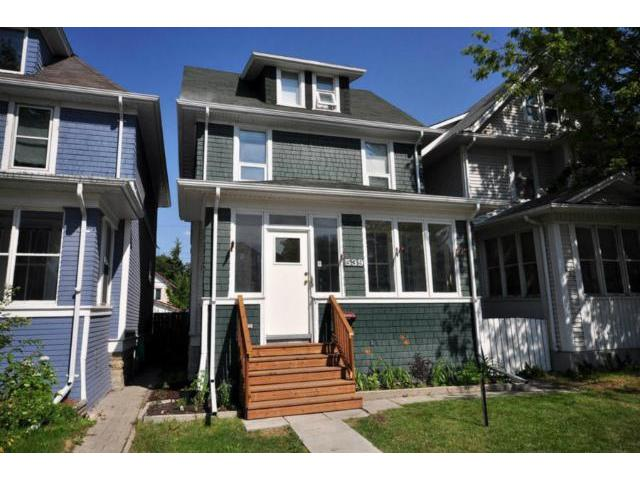 Main Photo: 539 Camden Place in WINNIPEG: West End / Wolseley Residential for sale (West Winnipeg)  : MLS® # 1214524