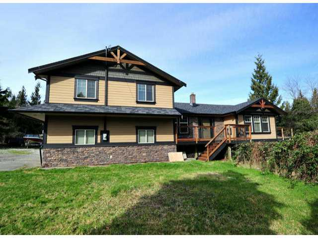 Main Photo: 30919 DEWDNEY TRUNK RD in Mission: Stave Falls House for sale : MLS® # F1303274