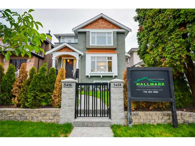 Main Photo: 5418 CULLODEN ST in Vancouver: Knight House for sale (Vancouver East)  : MLS®# V1088287
