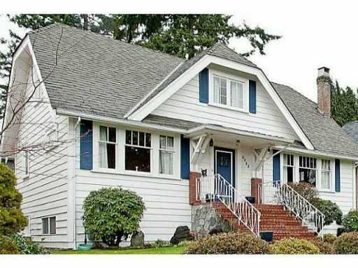 Main Photo: 3885 W 35TH AV in Vancouver: Dunbar House for sale (Vancouver West)  : MLS®# V1057828