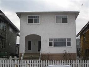 Main Photo: 1576 E 8th ave in vancouver: Grandview VE House for sale (Vancouver East)  : MLS® # v926395