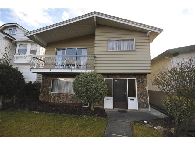 Main Photo: 3490 CAMBRIDGE ST in Vancouver: Hastings East House for sale (Vancouver East)  : MLS(r) # V1056008