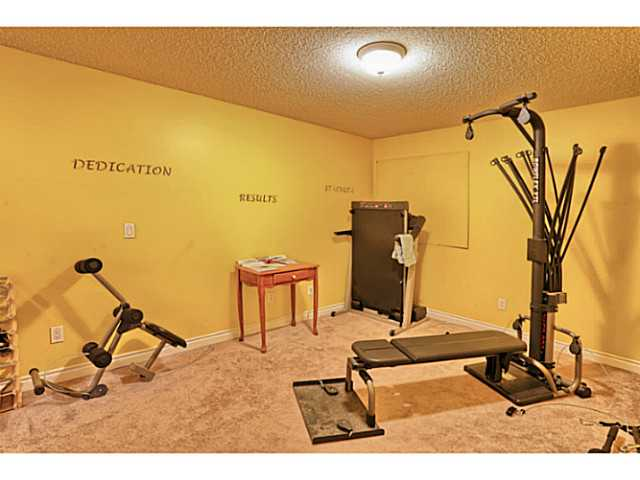 Basement area currently used as a gym