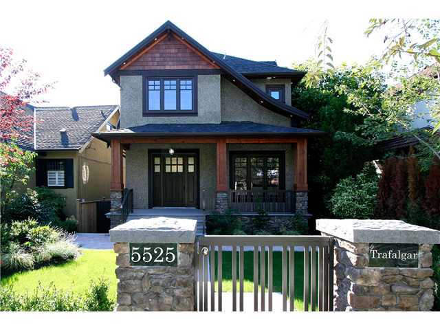 Main Photo: 5525 TRAFALGAR ST in Vancouver: Kerrisdale House for sale (Vancouver West)  : MLS® # V1016735