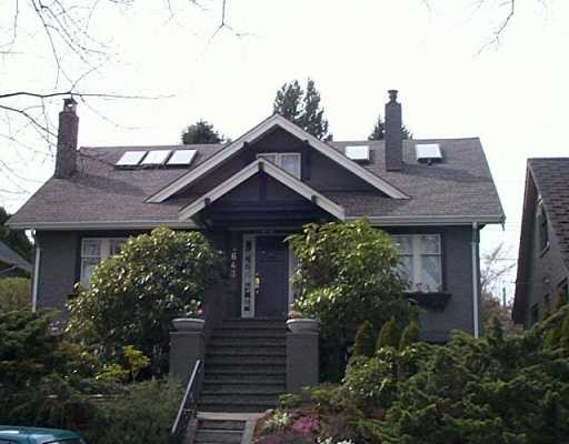 Main Photo: 4643 BLENHEIM ST in Vancouver: Dunbar House for sale (Vancouver West)  : MLS® # V585519