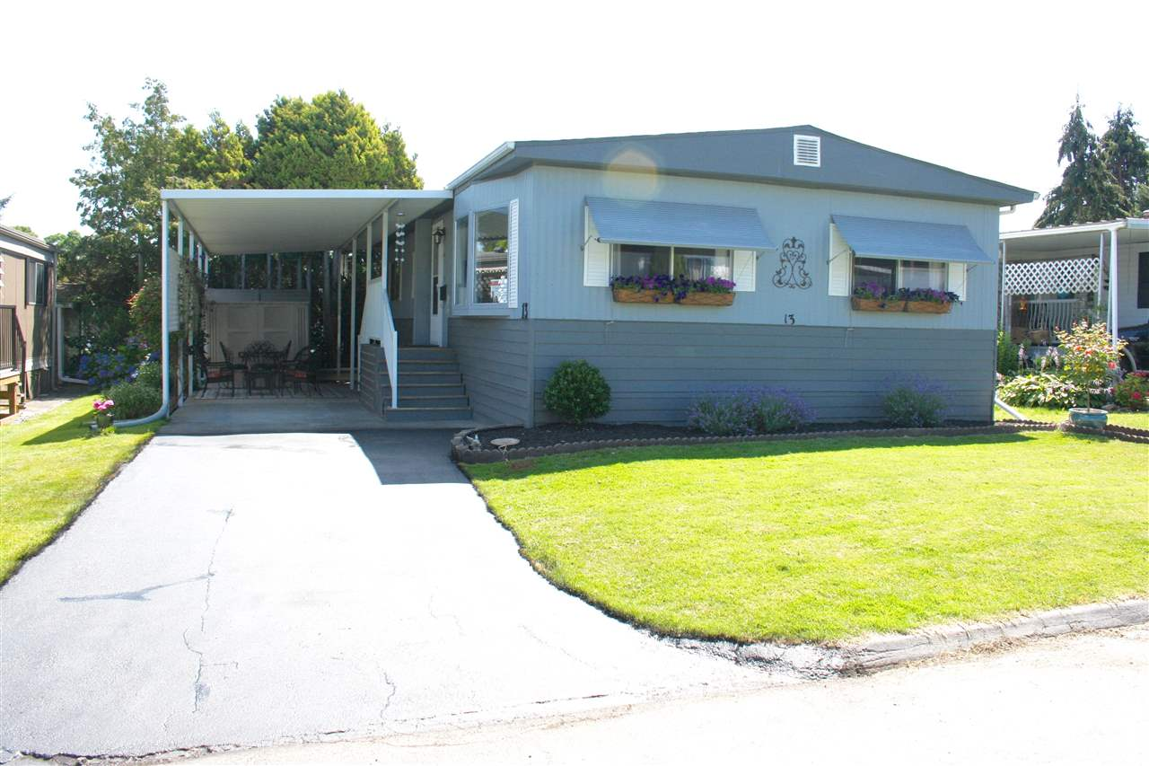 Main Photo: 13 1840 160TH STREET in Surrey: King George Corridor Manufactured Home for sale (South Surrey White Rock)  : MLS® # R2083587