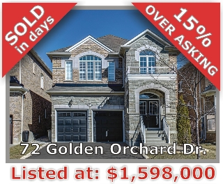 Main Photo: 72 Golden Orchard Rd in Vaughan: Patterson Freehold for sale