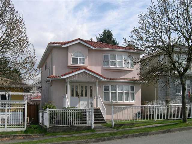 Main Photo: 4968 SOMERVILLE ST in Vancouver: Fraser VE House for sale (Vancouver East)  : MLS® # V999735