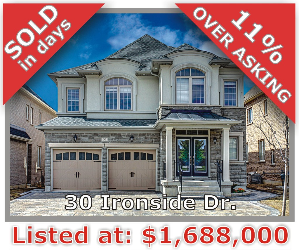 Main Photo: 30 Ironside Dr in Vaughan: Vellore Village Freehold for sale