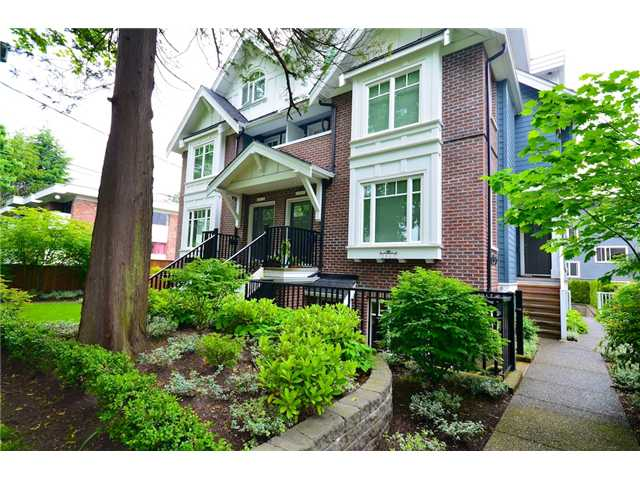 Main Photo: 2862 SPRUCE Street in Vancouver: Fairview VW Townhouse for sale (Vancouver West)  : MLS® # V956552