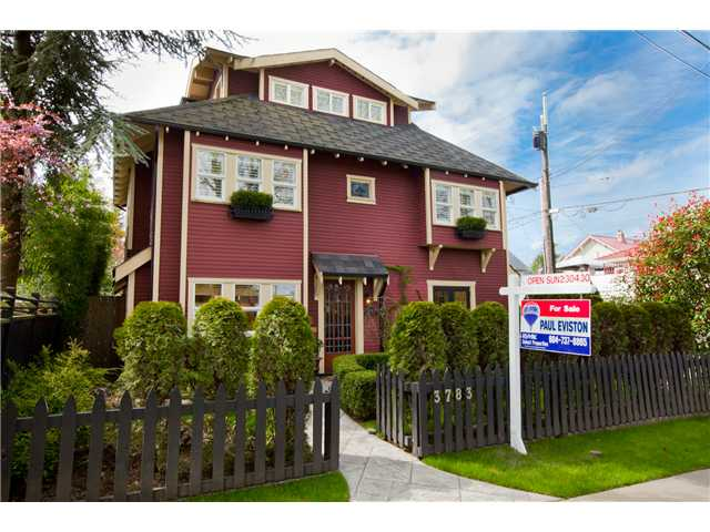 Main Photo: 3783 QUEBEC Street in Vancouver: Main House for sale (Vancouver East)  : MLS®# V943155
