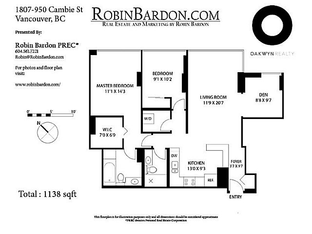 Photo 14: # 1807 950 CAMBIE ST in Vancouver: Yaletown Condo for sale (Vancouver West)  : MLS(r) # V1109233