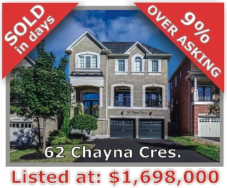 Main Photo: 62 Chayna Crescent in Vaughan: Patterson Freehold for sale