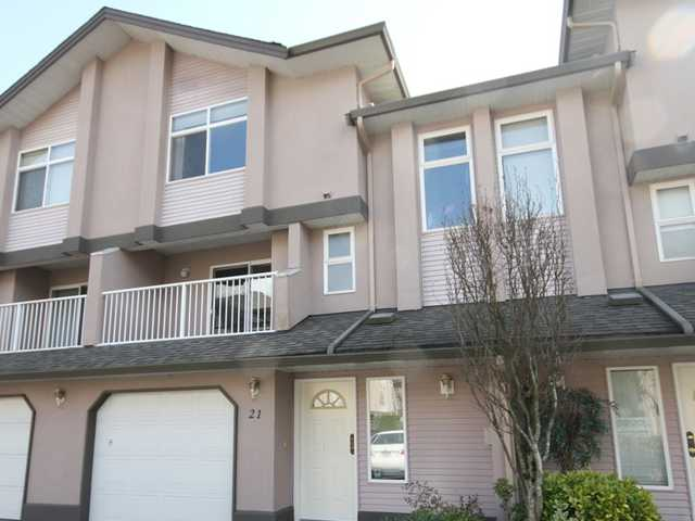 Main Photo: 21 2538 PITT RIVER Road in Port Coquitlam: Mary Hill Townhouse for sale : MLS® # V997236