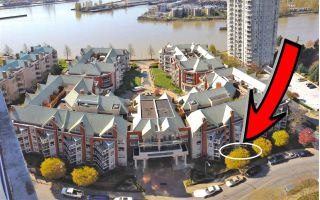"Main Photo: 102 1240 QUAYSIDE Drive in New Westminster: Quay Condo for sale in ""TIFFANY SHORES"" : MLS®# R2263673"