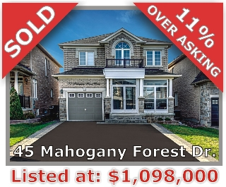 Main Photo: 45 Mahogany Forest Dr in Vaughan: Patterson Freehold for sale