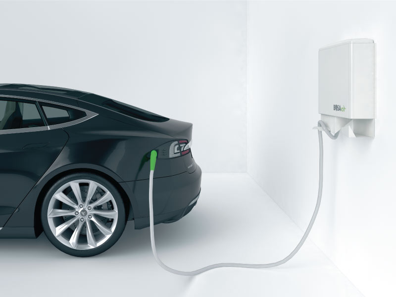BOSAvolt™ dedicated parking spaces provide electric vehicles with the power to recharge batteries more efficiently.