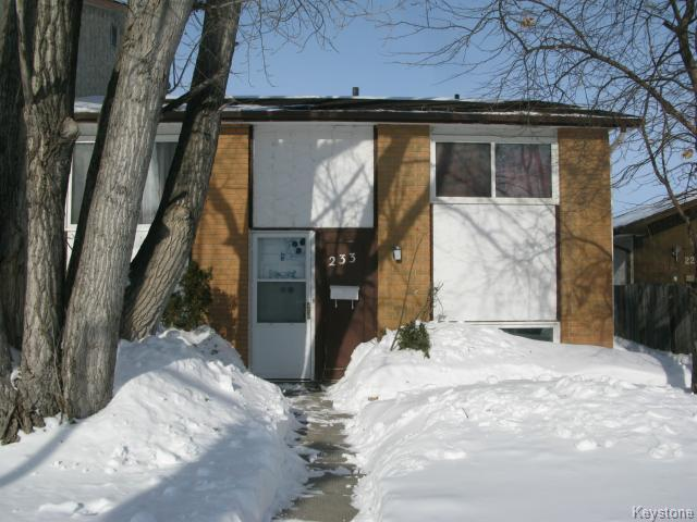 Photo 1: Photos: 233 Adsum Drive in WINNIPEG: Maples / Tyndall Park Single Family Attached for sale (North West Winnipeg)  : MLS® # 1402974