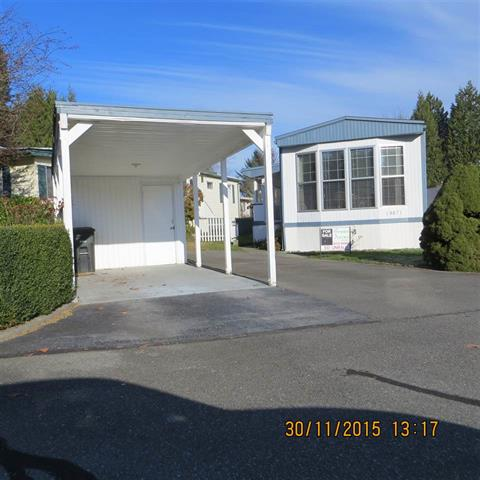 Main Photo: 161 19671 PONDEROSA in PITT MEADOWS: Central Meadows Manufactured Home for sale (Pitt Meadows)  : MLS® # R2017317