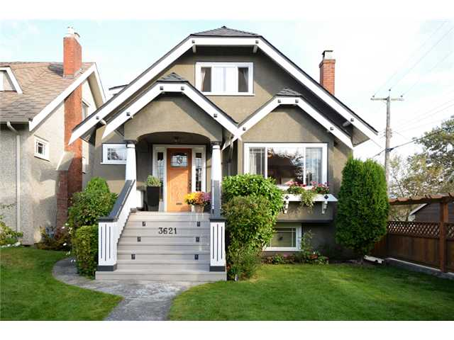 Main Photo: 3621 W 20TH AV in Vancouver: Dunbar House for sale (Vancouver West)  : MLS® # V1089715