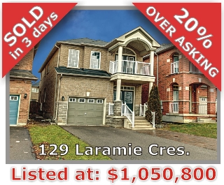 Main Photo: 129 Laramie Crescent in Vaughan: Patterson Freehold for sale
