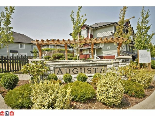 "Main Photo: 109 18199 70TH Avenue in Surrey: Cloverdale BC Townhouse for sale in ""AUGUSTA"" (Cloverdale)  : MLS® # F1220480"